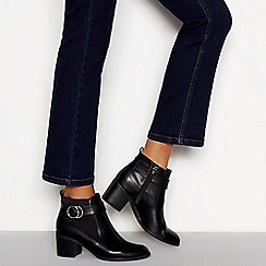 Principles - Black 'Corden' block heel wide fit ankle boots