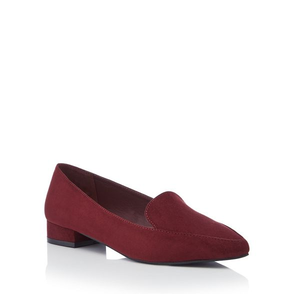 suedette wide loafers Principles red 'Civil' Wine flat fit wqE4pvX