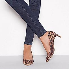 Principles - Multicoloured animal print suedette 'Cheri' kitten heels shoes