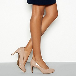 The Collection - Nude patent 'Callie' high heel court shoes