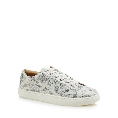 Mantaray - White flower print trainers
