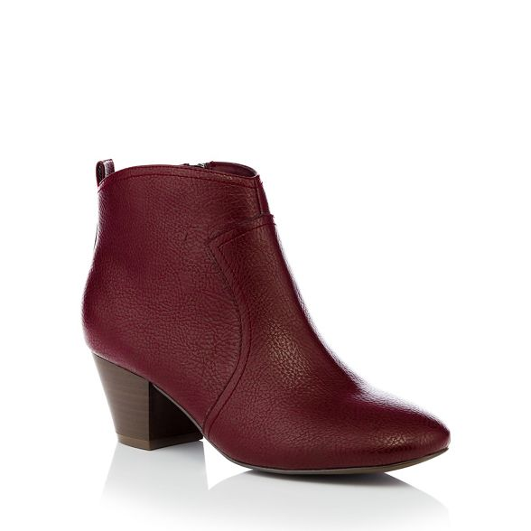 leather red mid heel faux Mantaray 'Montie' ankle boot Dark xvAFpt