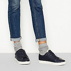 Mantaray - Blue borg lined lace-up trainers