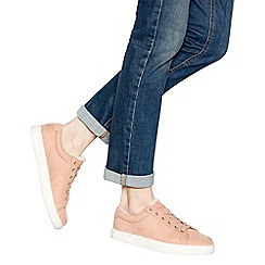 Mantaray - Pink suedette borg lined lace-up trainers