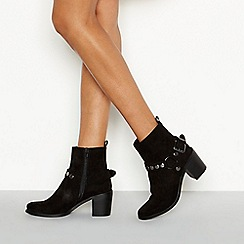 Nine by Savannah Miller - Black 'Stirup' stud buckle ankle boot