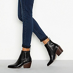 Nine by Savannah Miller - Black 'Soven' block heel ankle boots