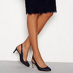 Debut - Navy 'Dishy' stiletto heel slingbacks sandals