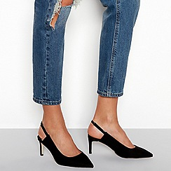 Faith - Blacksuedettemid stiletto heel slingbackcourt shoes