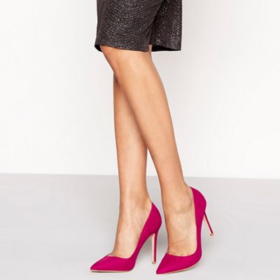 Faith - Pink suedette 'Chloe' high stiletto heel pointed shoes