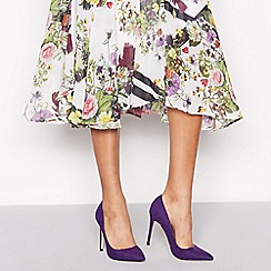 Faith - Purple suedette 'Chloe' high stiletto heel pointed shoes