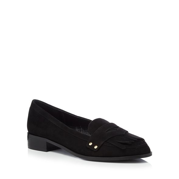 suedette Black loafers 'Air' fringe Faith P4UxqSnw