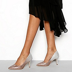 Faith - Gold 'Chariot' Stiletto Heel Court Shoes
