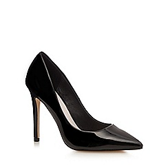 Faith - Black patent 'Chloe' wide fit high court shoes