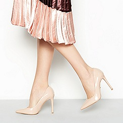 Faith - Nude 'Chloe' wide fit court shoes