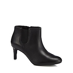 Clarks - Black leather 'Dancer Sky' mid heel ankle boots