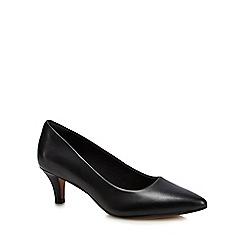 Clarks - Black leather 'Linvale Jerica' stiletto heel court shoe