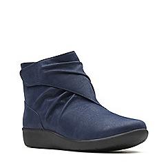Clarks - Navy blue 'Sillian Tana' ankle boots