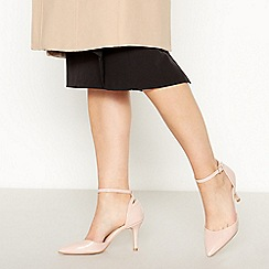 Faith - Nude Patent 'Camo' High Stiletto Heel Pointed Toe Court Shoes