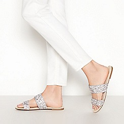 2db8df81a Faith - Silver  Justina  double strap mule sandals