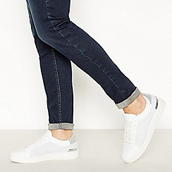 Faith - Silver 'Kember' Trainers