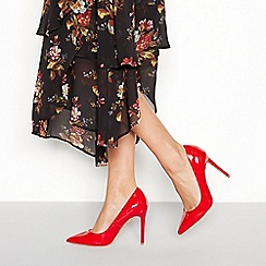 Faith - Red Patent 'Chloe' Stiletto Heel Pointed Shoes