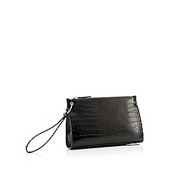 Faith - Black Croc-Effect 'Pixie' Clutch Bag