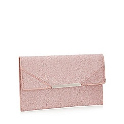 Faith - Pink Glitter 'Patricia' Envelope Clutch Bag
