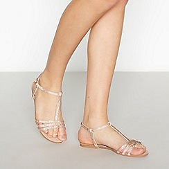 Faith - Pink Diamante Embellished 'Jettie' Sandals