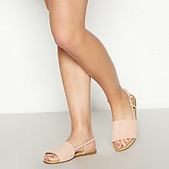 Faith - Pink Faux Suede 'Jia' Wide Fit Sandals