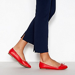 Principles - Red 'Colette' Ballerina Pumps