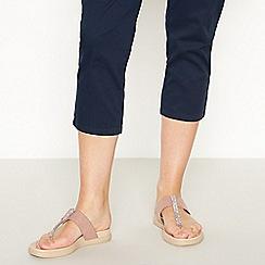 Good for the Sole - Light Pink Embellished 'Garnet' Wide Fit Flip Flops