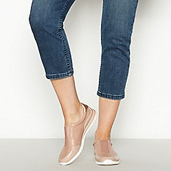 Good for the Sole - Pale Pink Slip On Wide and Comfort Fit Trainers