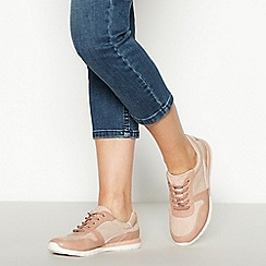 Good for the Sole - Pale Pink Spotted Wide and Comfort Fit Trainers