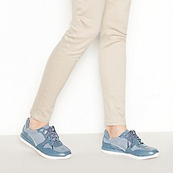 Good for the Sole - Navy Polka Dot Wide and Comfort Fit Trainers