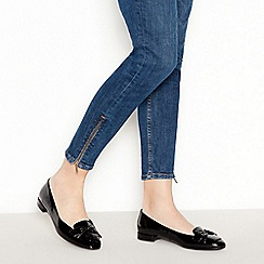 Good for the Sole - Black Patent 'Garda' Wide Fit Pumps