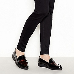 Good for the Sole - Multicoloured Patent Tortoiseshell 'Granberry' Wide and Comfort Fit Pumps