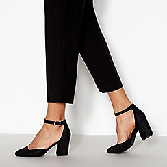 Principles - Black 'Reagan' Wide Fit Block Heel Sandals