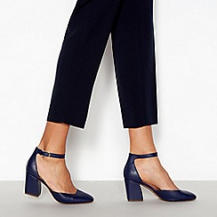 Principles - Navy 'Reagan' Wide Fit Block Heel Sandals