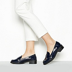 Principles - Navy Patent 'Reed' Low Heel Wide Fit Loafers