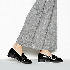 Principles - Black Patent 'Reed' Low Heel Wide Fit Loafers