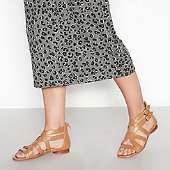 Principles - Tan Zipped 'Ridley' Gladiator Sandals