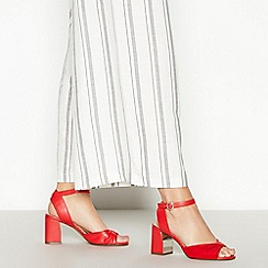 Principles - Red 'Romy' Twist Front Block Heel Sandals