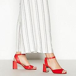 Principles - Red 'Romy' Twist Front Block Heel Sandals