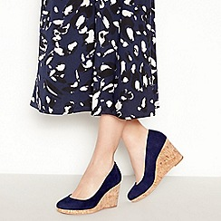 Principles - Navy 'Rumer' Wedge Court Shoes