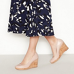 Principles - Nude 'Rumer' Wedge Court Shoes