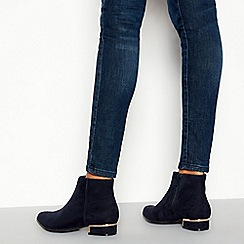 Principles - Navy 'Celia' Pointed Toe Ankle Boots