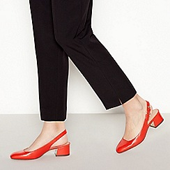 Principles - Red 'Regina' Block Heel Slingback Court Shoes
