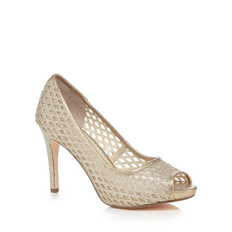 Gold Peep Toe Shoes Debenhams