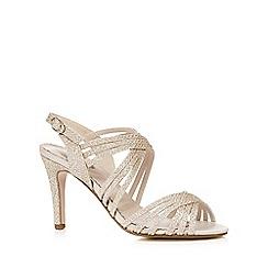 Debut - Gold glitter 'Dana' high stiletto heel ankle strap sandals