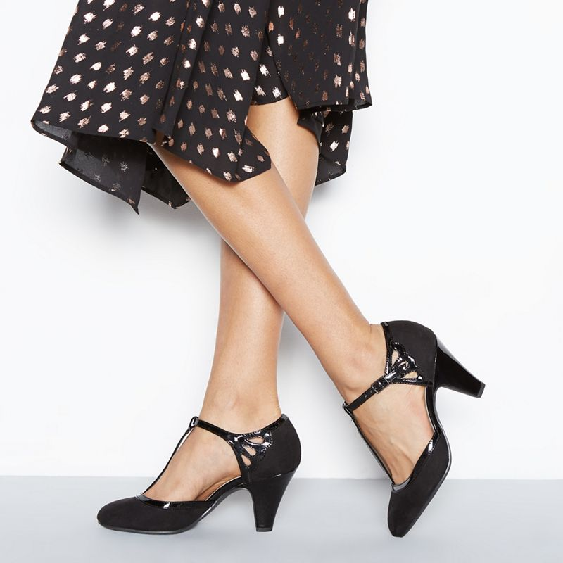 Good for the Sole - Black Patent Glad High Heel Wide Fit